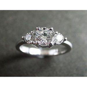 2.51ct diamond three stone ring engagement white g
